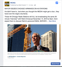 chicago mayor radio take over