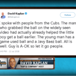 David Kaplan dials in to clarify the foul ball controversy that took place in the Wrigley Field stands on Sunday with a young fan and an adult.